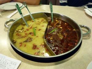 Half and half hot pot